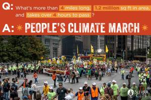Sierra club climate march photo
